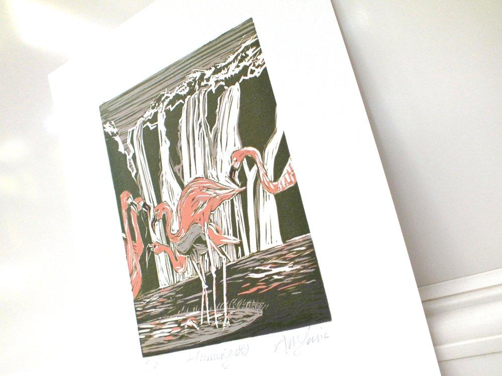 Flamingo lino #5 angled.jpg