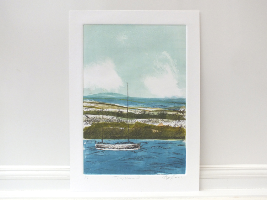 Topsham Painting of the river & boat