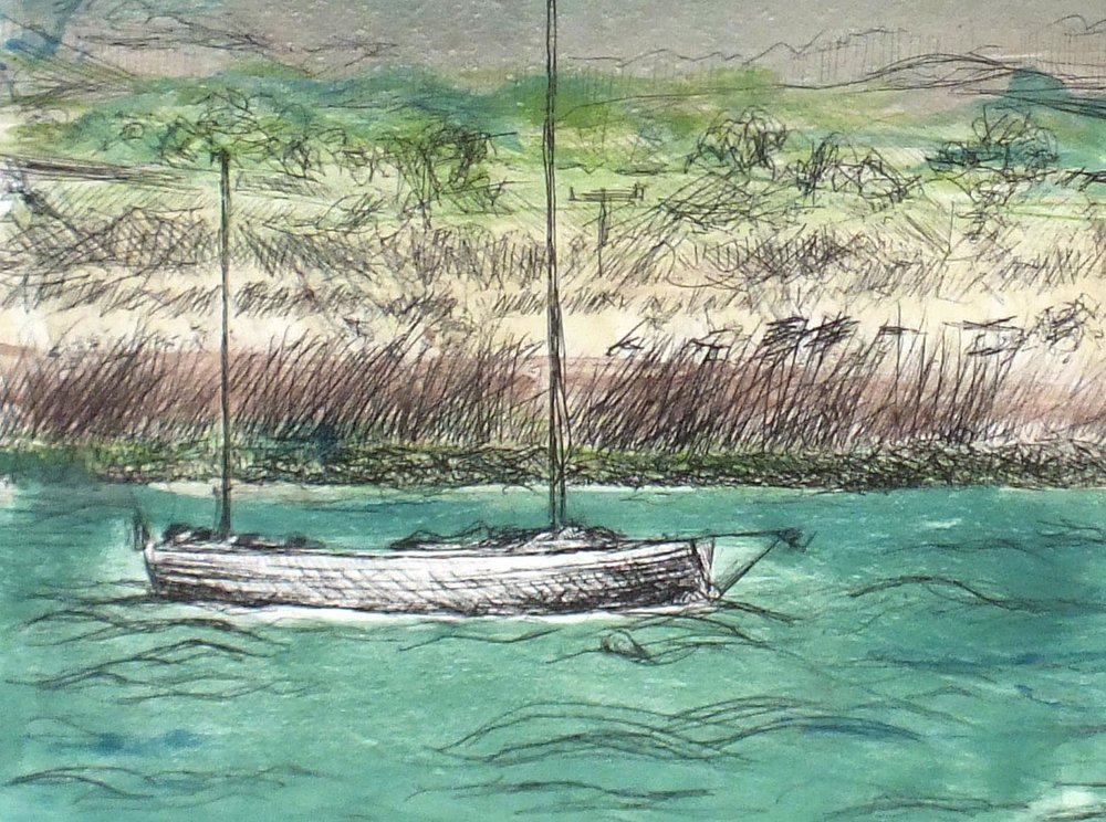 Topsham Sailing Boat Painting for Sale