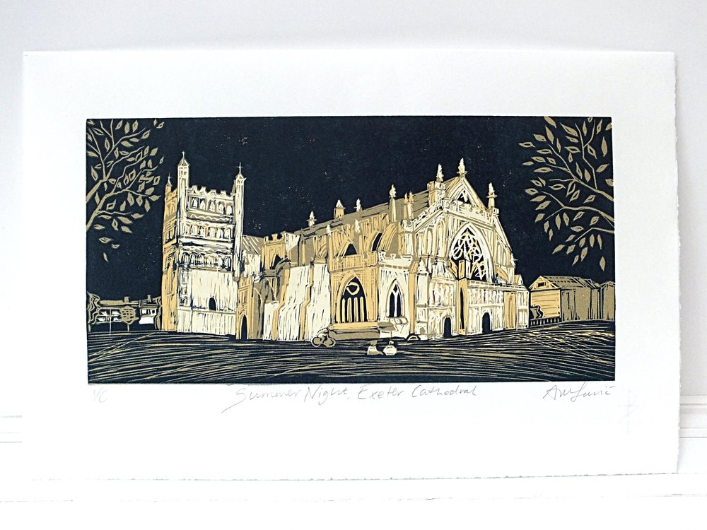 Exeter summer night print artwork