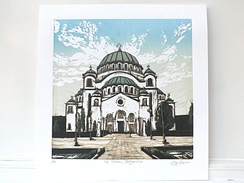 St Sava Building Painting