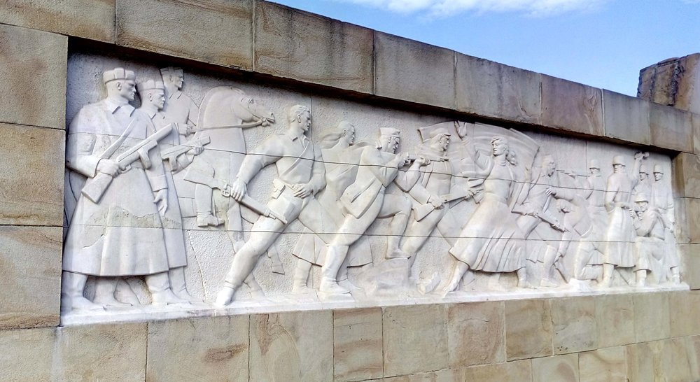 Frieze in 'Park Oslobodioca Beograda' (Park of the Liberators of Belgrade)