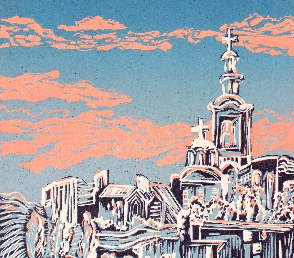 Belgrade linocut, by Ali Savic [3]