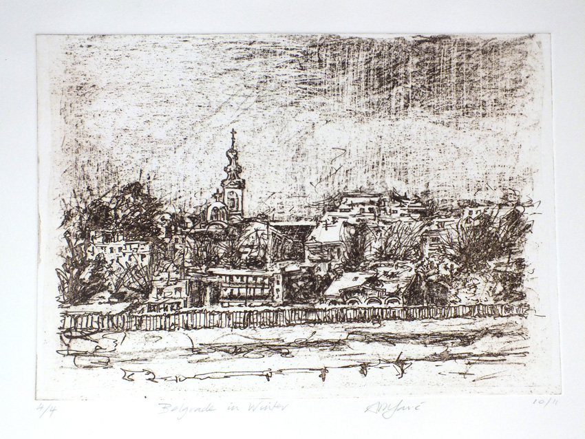 'Belgrade in Winter', photo-etching by Ali Savic [4]