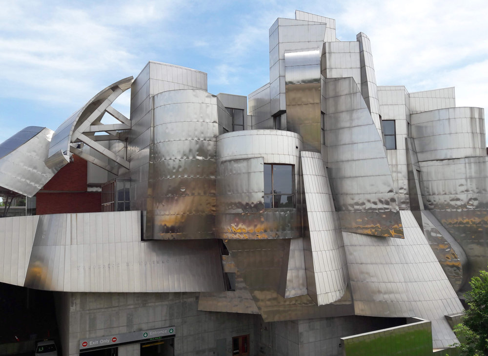 The Weisman Art Museum designed by the architect Frank Gehry