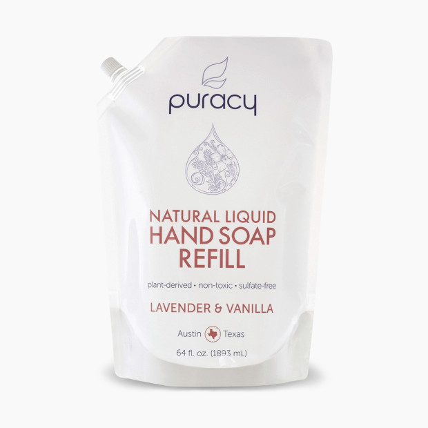 Less plastic, more luxurious lavender vanilla scent. This handsoap refill uses 90% less plastic, water & energy. Made in the USA. It smells good too.