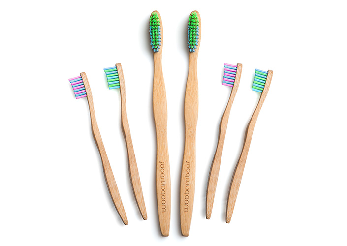 These toothbrushes are made with natural, biodegradable bamboo. PS: they also make floss!