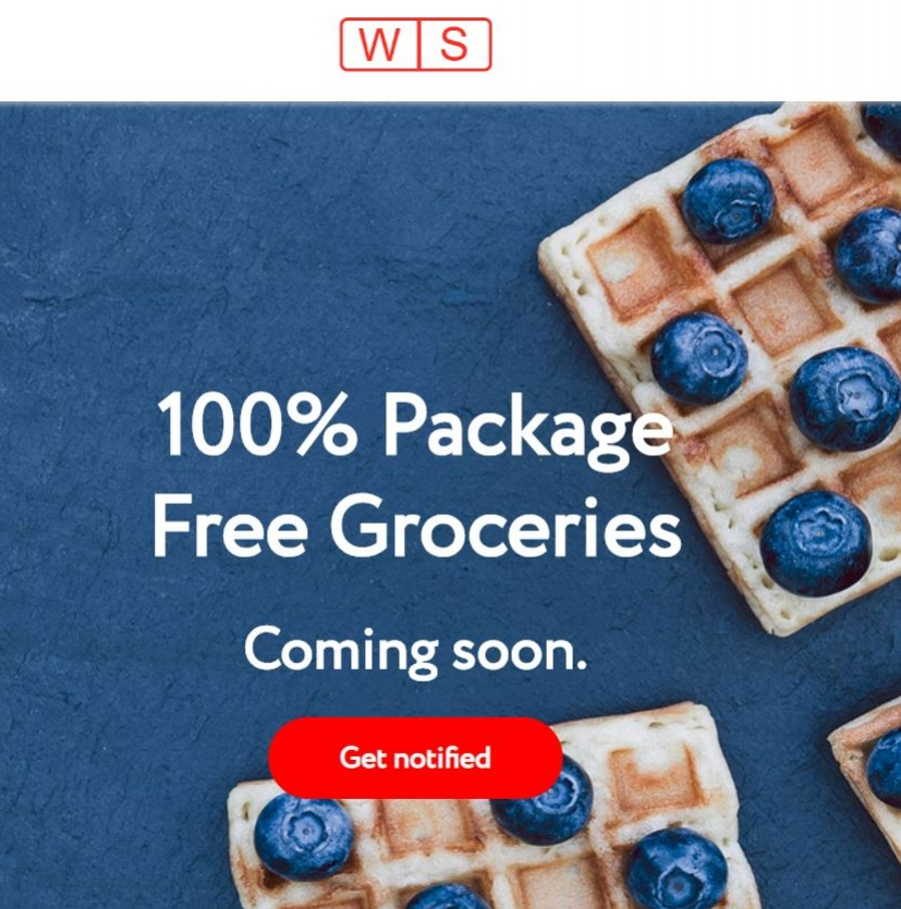 The Wally Shop is almost here! Get notified to find out when you can start ordering #plasticfree groceries!