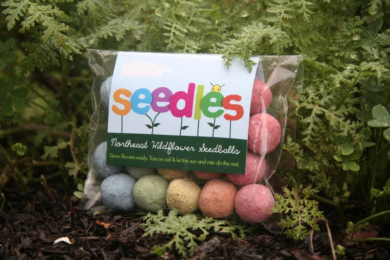 Rainbow bright balls of seed, compost, and clay. They add fun and vibrant colors to your neighborhood while benefitting local pollinators.
