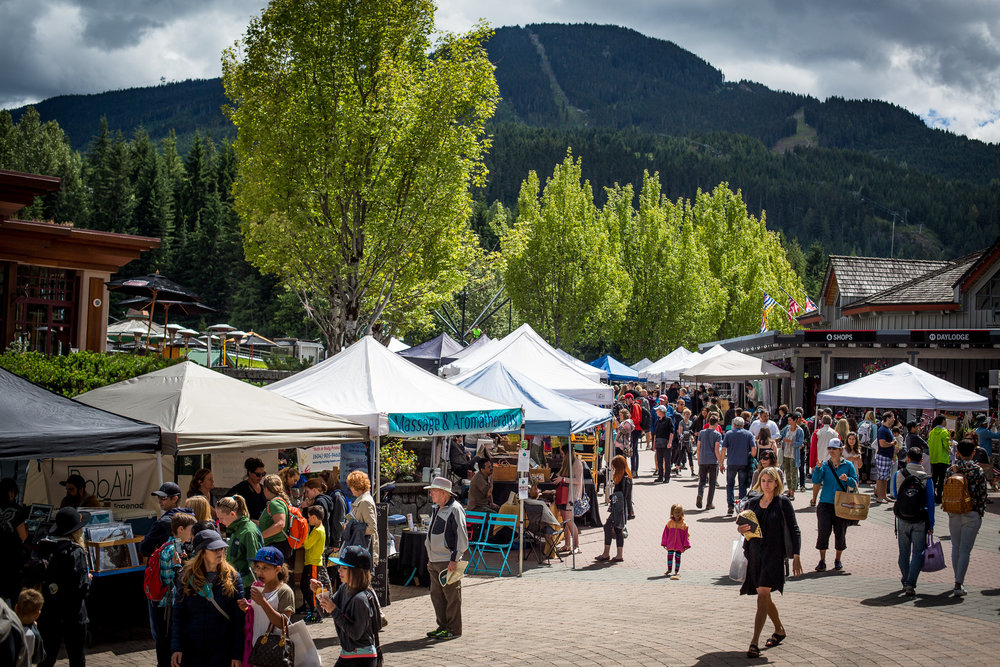 Upper Village - Whistler's main village is internationally famous, but not everyone knows that just a 10-minute walk away is a whole other base loaded with family fun. The Upper Village at the base of Blackcomb features kids rides, mini golf, a Farmer's Market and a few bars with patios and craft beer.