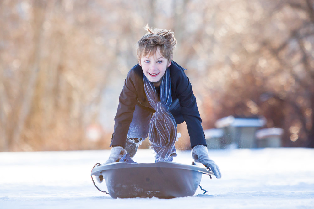 Bring A Toboggan - Simple and easy to carry, a toboggan is a great way to keep your kids entertained and warm while they wait for their turn. They also come in handy if someone gets tired and needs a ride home after we're done.