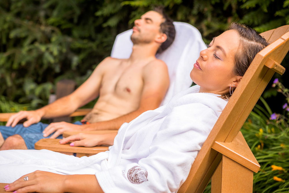 Scandinave Spa - After a day exploring in the mountains the spa is a great way to warm your body and relax your muscles. You'll love quietness after chasing best deals, and celebrating with your friends and family.
