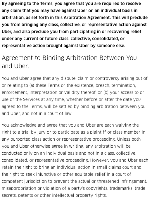 Uber's Agreement