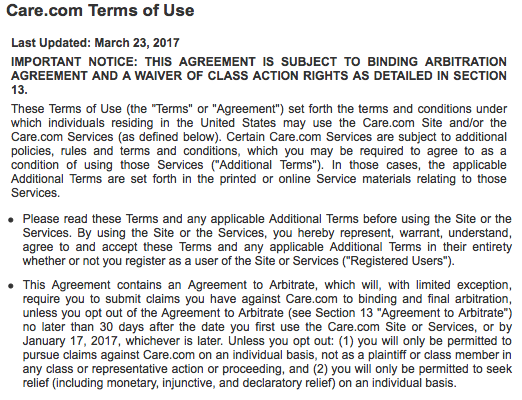 Care.com Agreement