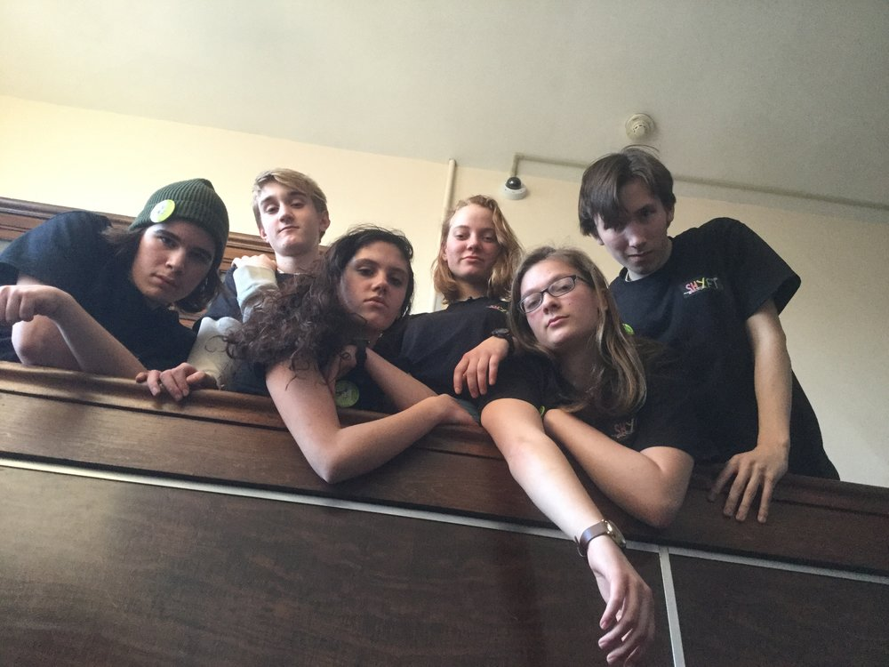 SHYFT 2018:    Bailey Bennett, Sawyer Nicastro, Hannah Thompson, Sofia Post, Darby Larkin, Padraig Bond (Not shown: Drew Carnahan)