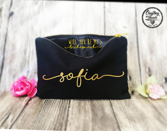 11. Personalized Make-up Bag - CraftingHandsNY