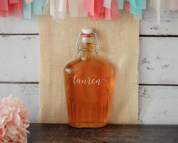 15. Custom Flask - FlowertownWeddings