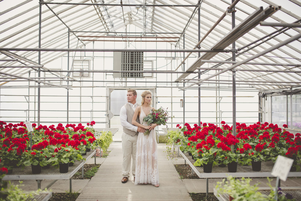 Modern Greenhouse Romance for Destination Wisconsin Wedding Blog