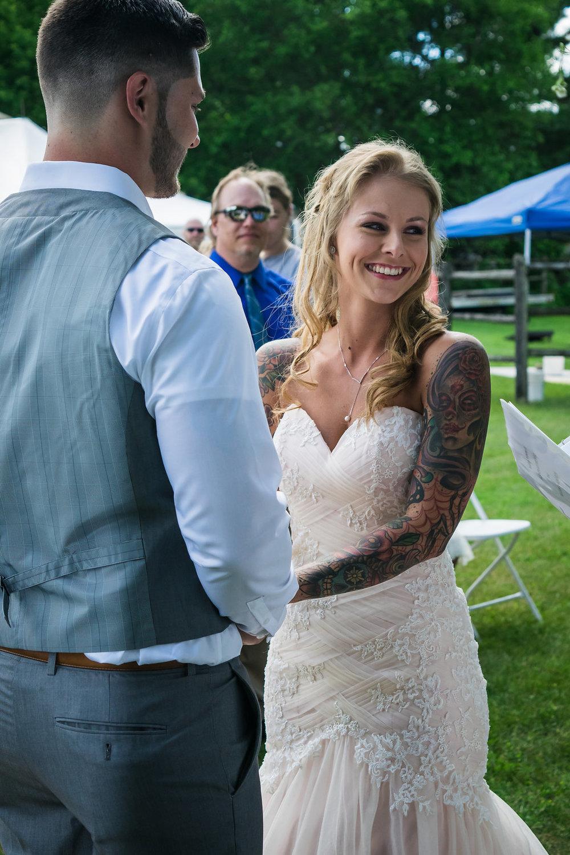Backyard Wedding by Aili Wadlund Photography for Destination Wisconsin Wedding Blog