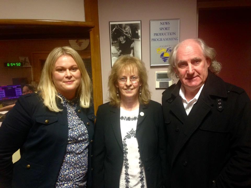 With Elaine Feeney and Rita Anne Higgins