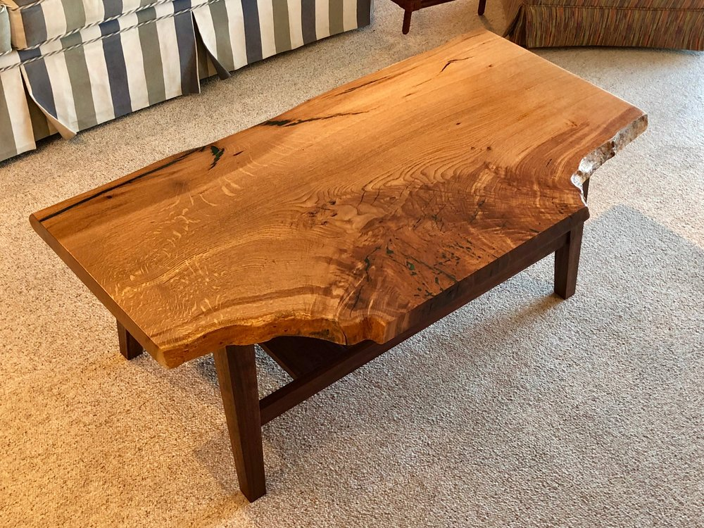 Inlayed Emerald Mica Coffee Table