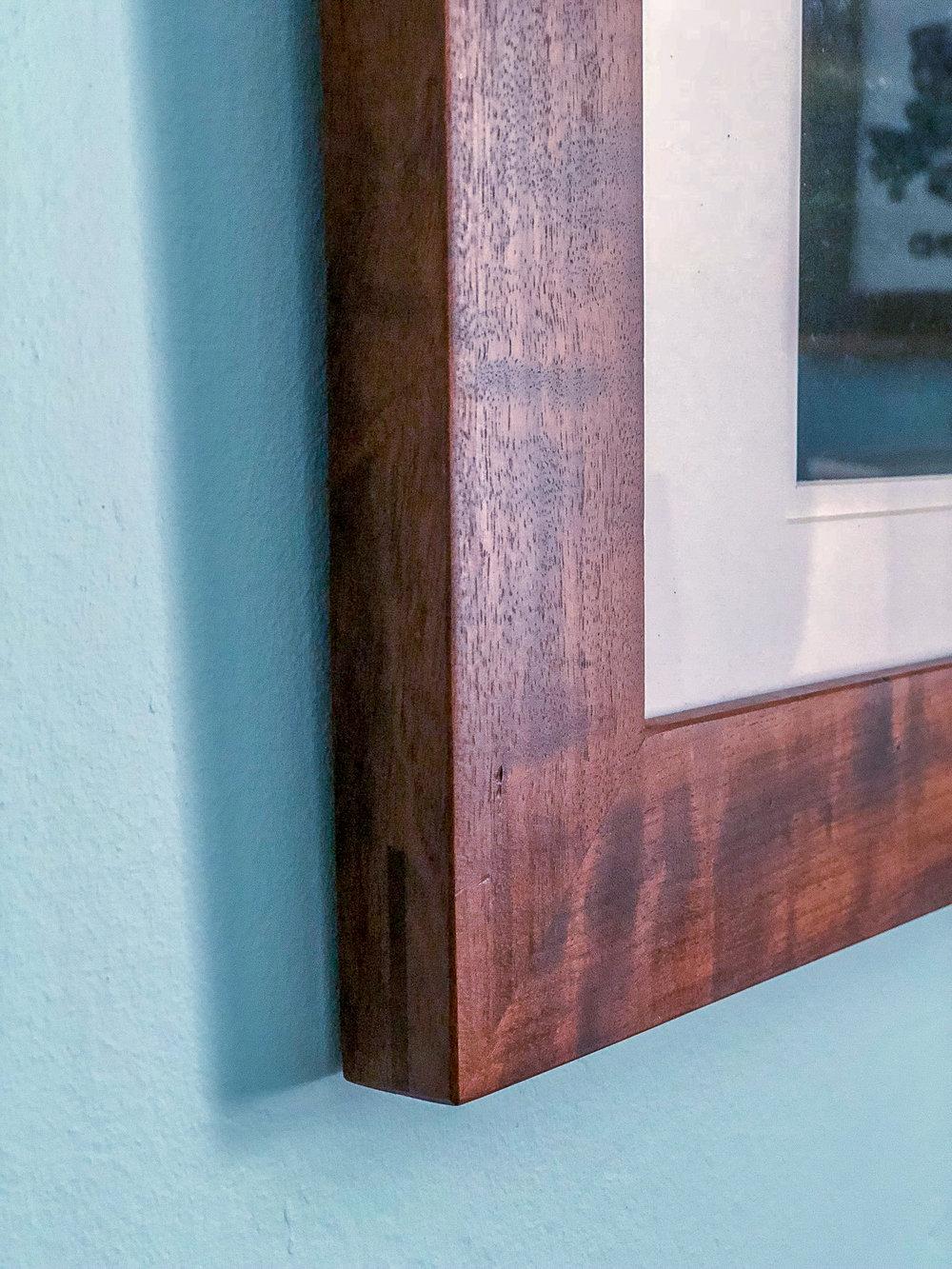 custom walnut picture frame handmade wedding gift