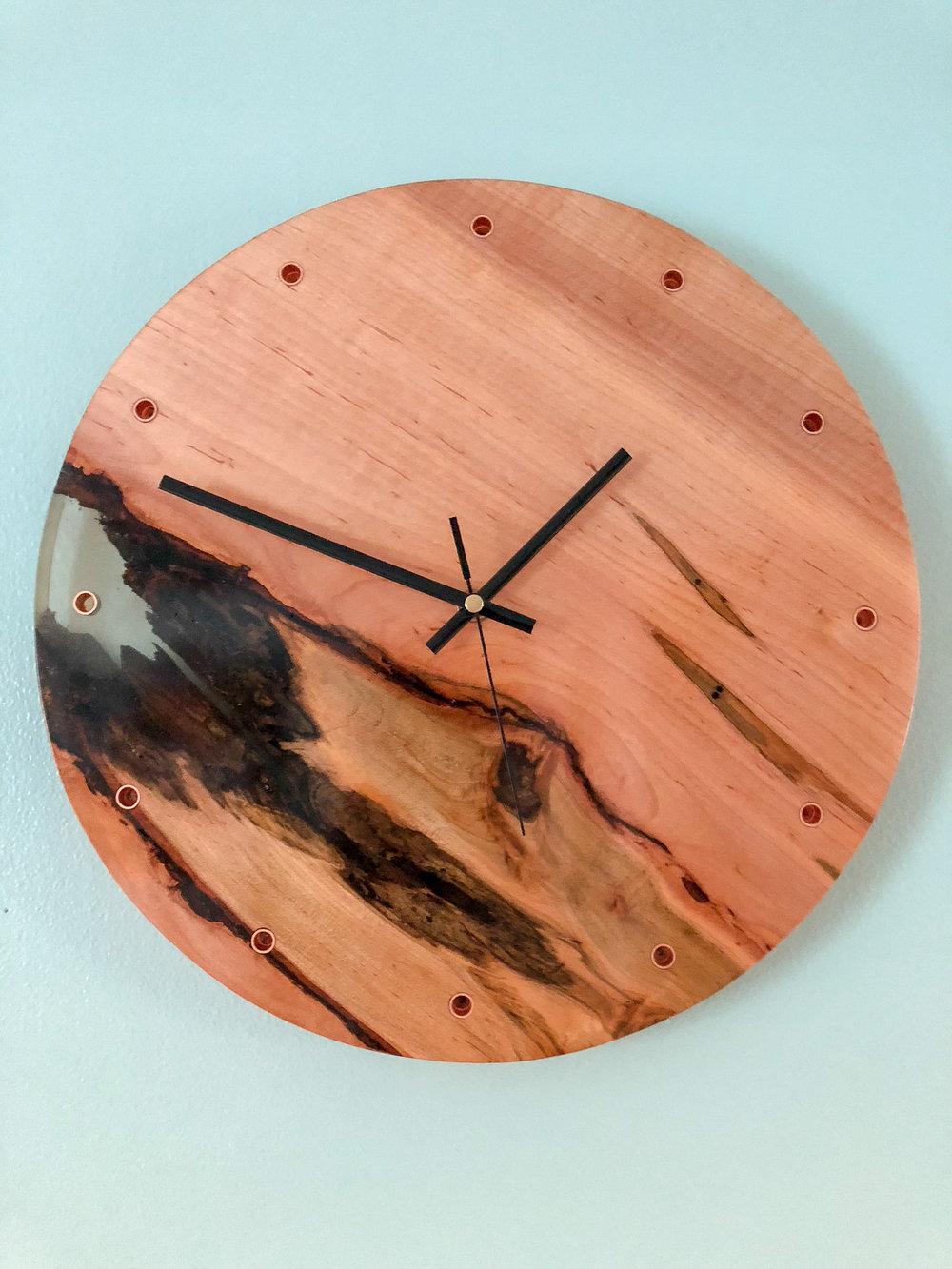 custom maple wooden wall clock