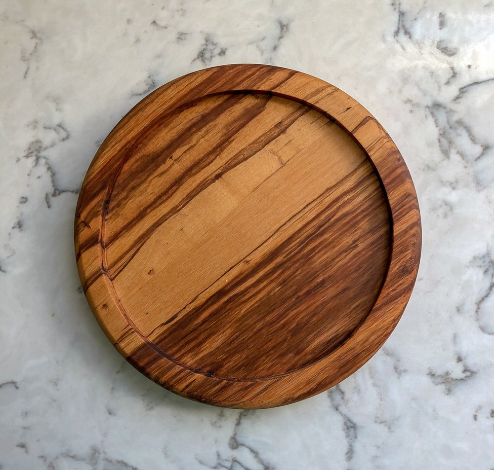 Olive wood Platter. custom wooden handmade gifts. richmond virginia. sallie plumley studio. rva