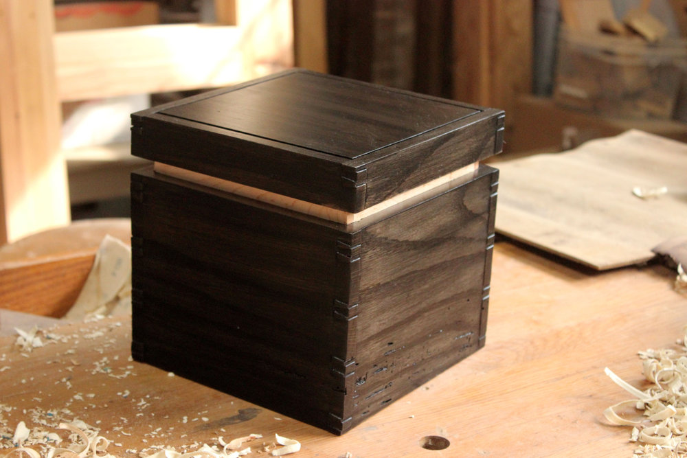 little black box. wooden box. wedding gift. custom wooden handmade gift. sallie plumley studio. richmond virginia. rva