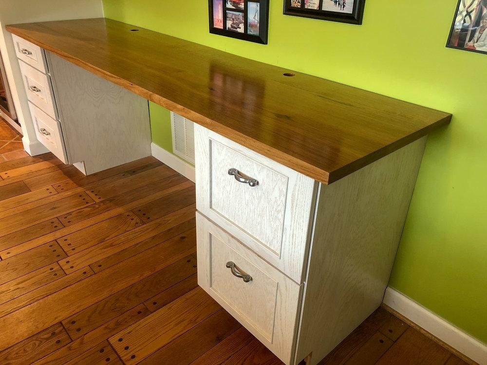 Custom White Oak Desktop Sallie Plumley Studio Richmond Virginia Sally Plumley Custom Woodworking and Furniture Design