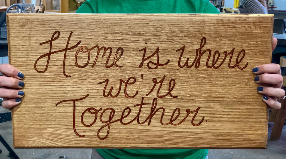 custom oak sign handmade wooden housewarming wedding gift