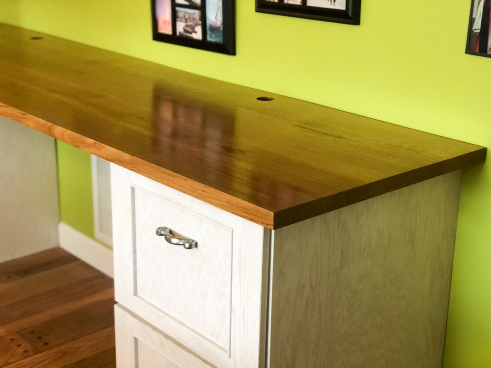 custom white oak desktop tabletop