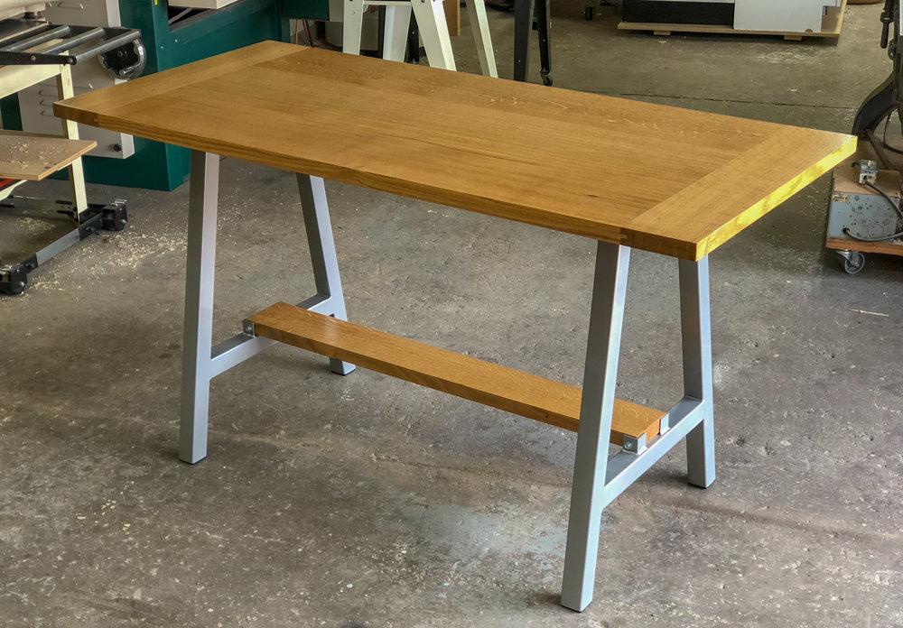Custom White oak Breadboard end kitchen table Sallie Plumley Studio Richmond Virginia Sally Plumley Custom Woodworking and Furniture Design
