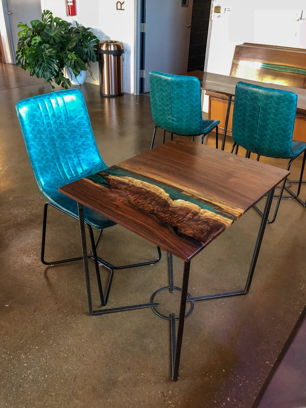 River Table Live Edge Tabol brewing Sallie Plumley Studio Richmond Virginia Sally Plumley Custom Woodworking and Furniture Design