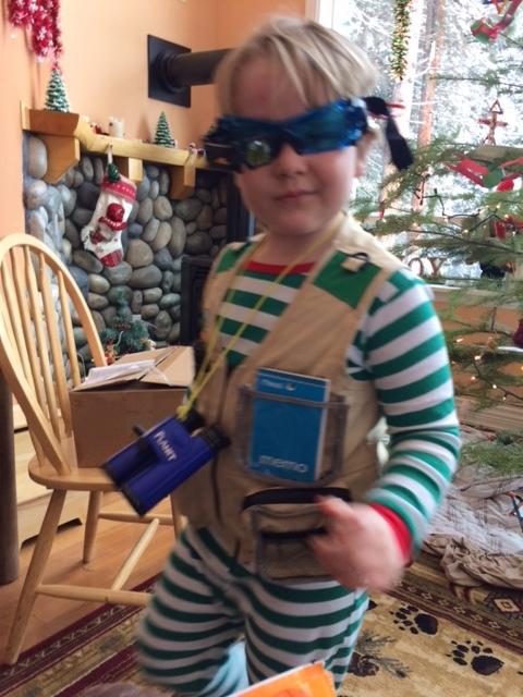 """Christmas """"explorer spy"""" outfit"""