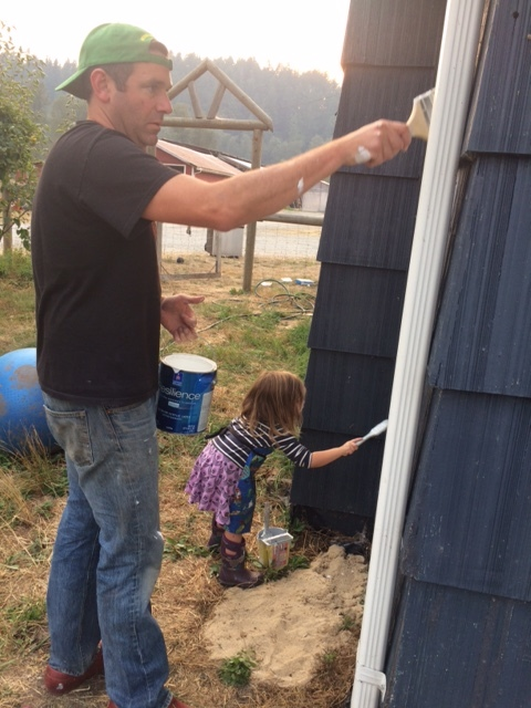 House painting with friends at their farm.