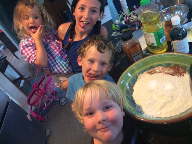Group cookie baking.