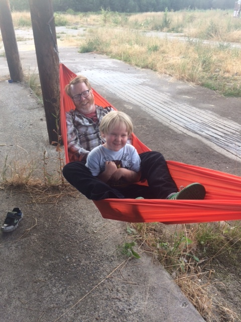 Dad hammock time.
