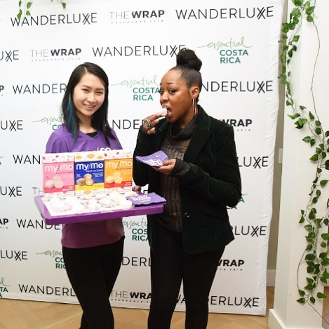 "Saturday morning kicked off with ""coffee & conversation"" with @tichinaarnold at our #wanderrluxxefilmmakerlounge with @thewrap and attendees at the intimate event enjoyed @mymomochiicecream ice cream snacks such as #green tea and #smores flavors. The perfect breakfast treat to pair with the @kobrickcoffee bar! #mymomochiicecream #mymomochi #kobrickcoffee #kobricks #tichinaarnold #wanderluxxewithus ☕️🍥🍵"
