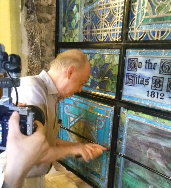 Re-installation of last panel of Peace Window