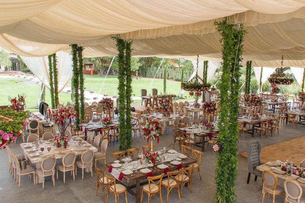 Vista general de boda