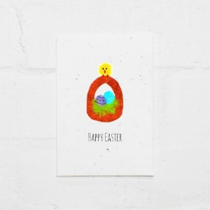 Ripped up Art - Happy Easter Card