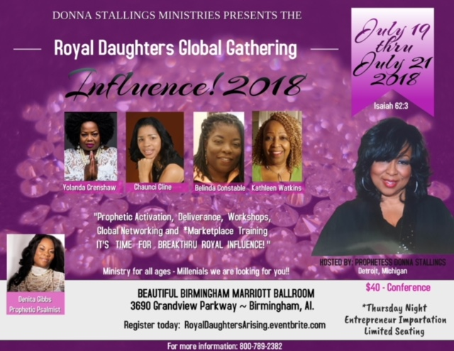 Denita Gibbs Ministries will be at the 2018 Royal Daughters Women