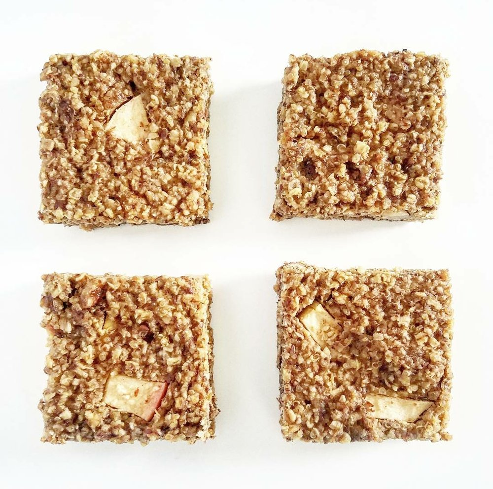 quinoa apple-cinnamon bars