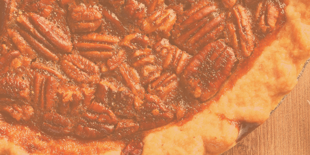 Our handmade Louisiana Sweet Potato Pecan Pie, fresh out of the oven!