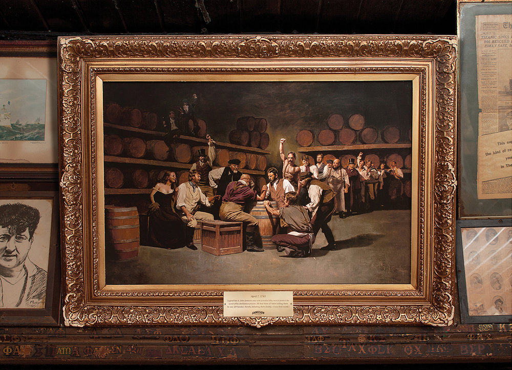 April 7, 1783 - Legend has it, John Jameson once arm wrestled fifty men to protect the secret of his distillation process. He beat them all before telling them he was left handed, thereby defeating them doubly. (A new Irish record.)