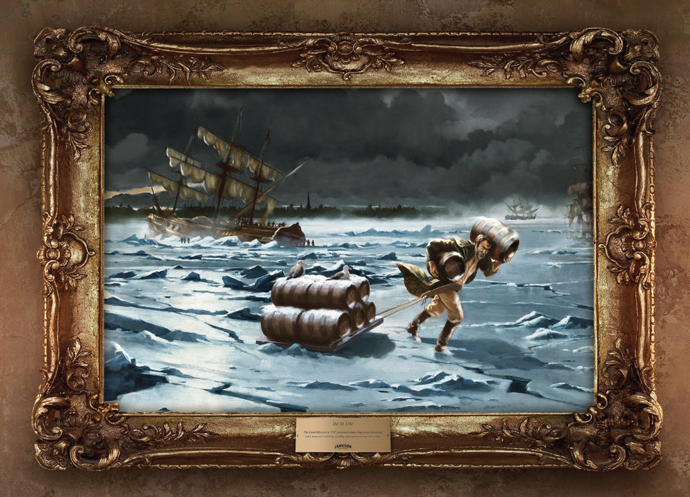 Dec 10, 1787 - The Great Blizzard of 1787 prevented many ships from delivering John Jameson's whiskey. Luckily, John Jameson was not a ship.