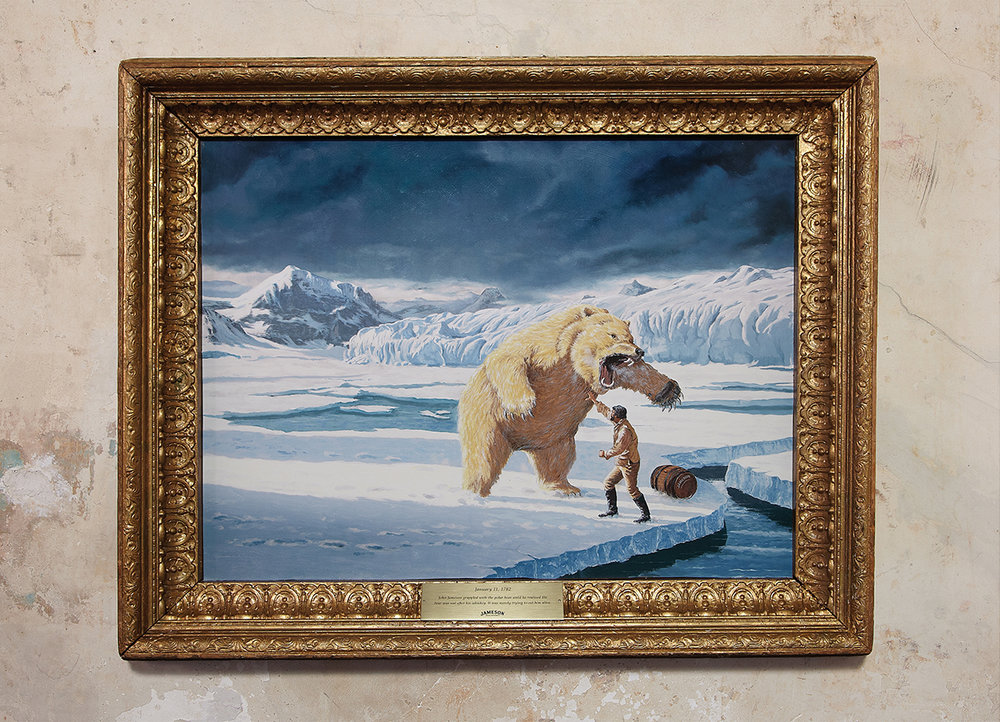 January 11, 1782 - John Jameson grappled with the polar bear until he realized the bear was not after his whiskey. It was merely trying to eat him alive.