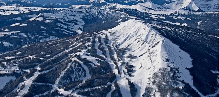 黄石私人滑雪场雪道鸟瞰图