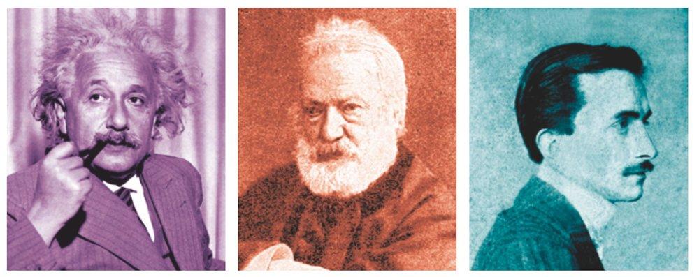 Albert Einstein, Victor Hugo,Albert Schweizer